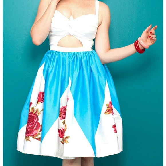 Pinup Couture Dresses & Skirts - Pin up Girl Clothing rose border Renee dress 2XL